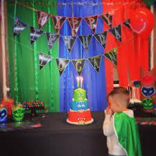 Pj Mask Party Decoration Ideas Interior Design New Mask Theme Party Decorations Decoration 37