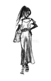 Fashion Woman Sketching Stock Illustrations 915 Fashion Woman