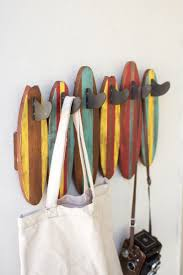Surfboard Coat Rack colorful wooden surfboards coat rack 1