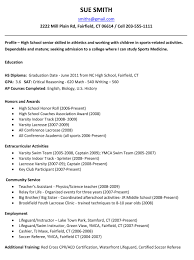 Plain Resume Template For High School Students With Contact