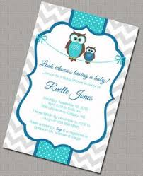 Owl Baby Shower Invitations  DIY Printable Baby Boy Shower Owl Baby Shower Invitations For Boy