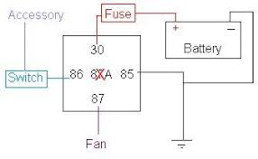 electric fan relay wiring diagram electric image electric fan wiring diagram relay wiring diagram on electric fan relay wiring diagram
