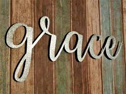 Word Signs Wall Decor Grace Sign Farmhouse Wall Decor Grace Wall Art Rustic Word Sign 1