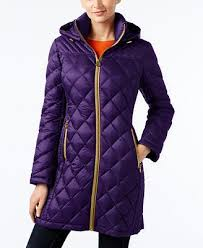 MICHAEL Michael Kors Hooded Packable Down Diamond Quilted Puffer ... & MICHAEL Michael Kors Hooded Packable Down Diamond Quilted Puffer Coat Adamdwight.com