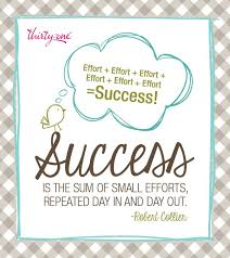 success is the sum of small efforts let thirty one gifts make your life