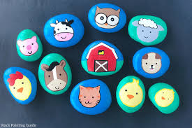 How to Make Farm Animals for Kids Painted Rocks