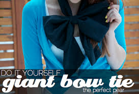 The Perfect Pear: DIY // Giant Bow Tie