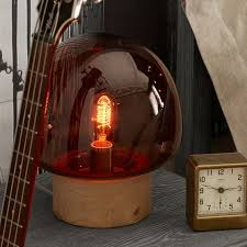 dome glass table lamp