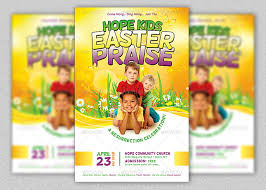 Kids Easter Praise Church Flyer Template | Inspiks Market