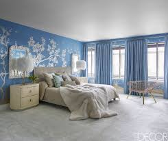 blue bedrooms. Blue Bedrooms Elle Decor