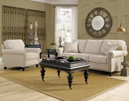 striped sofas living room furniture. Broyhill Furniture Harrison Traditional Style Sofa With Exposed Wood Feet | Wayside Sofas Striped Living Room O