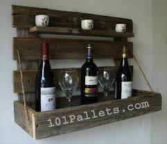 pallet wine rack. Handmade Pallet Wine Rack With Rustic Shelf