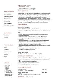 Office Manager Resume Sample Enchanting Dental Office Manager Resume Example Sample Template Dentist