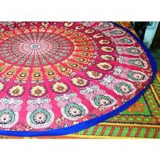 red for you mandala large beach towel hippie rug wall tapestry round bohemian and gold