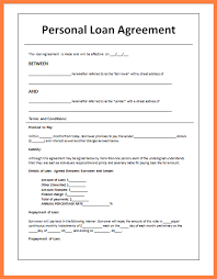 Agreement Letter For Loan