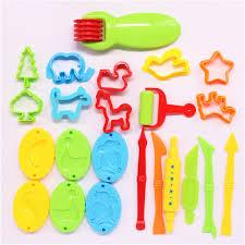23pcs Plastic Play Dough <b>Tools Set</b> Toy Educational <b>Plasticine Mold</b> ...