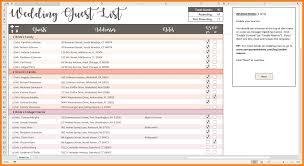 8 Excel Spreadsheet For Wedding Guest List Gospel Connoisseur