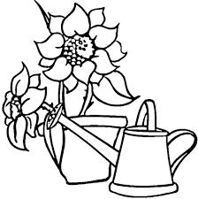 Sproeiende Kan En Zonnebloemen Kleurplaat Gratis Kleurplaten Printen