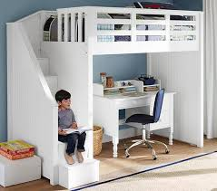 black bunk bed with desk