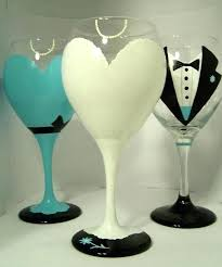Wine Glass Decorating Designs Wedding Glasses Decoration Wedding Wine Glass Decorating Ideas 8