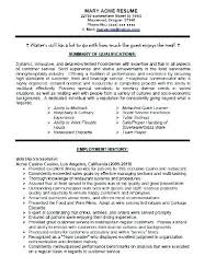 waitressing cv professional waiter cv sample resume for server waitress skills