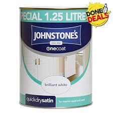 Johnstones Quick Dry Satin Brilliant White 1 25l 303929