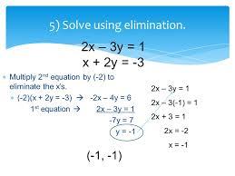 5 solve using elimination