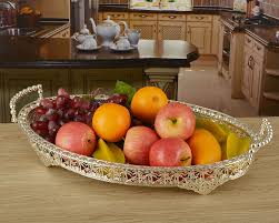 How To Decorate Fruit Tray 6060cm large size silver plated metal fruit plates fruit trays 9
