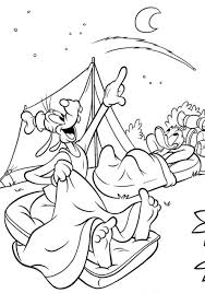 Goofy coloring pages camping - ColoringStar