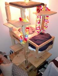 picture of build a very tall and sturdy cat tree build cat tree t12