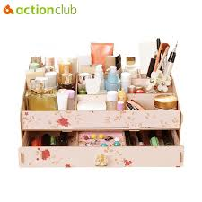 2018 whole large capacity exquisite cosmetic organizer case diy makeup storage box jewelry storage container wooden storage box from chenjong