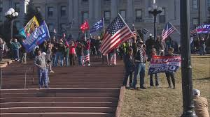 Hundreds Protest On State Capitol Steps ...