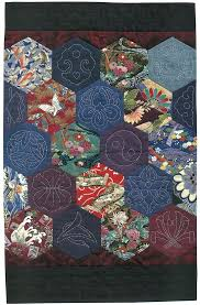 Best 25+ Japanese quilt patterns ideas on Pinterest | Sashiko ... & Hexagon Sashiko quilt - a project from Quilting with Japanese Fabrics by  Kitty Pippen Adamdwight.com