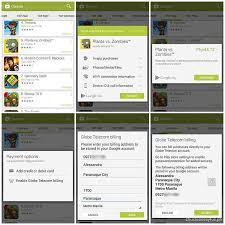 google play via globe direct carrier billing