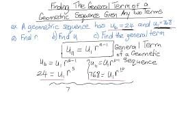 find general term given two terms of a geometric sequence