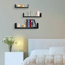 floating shelves u shaped hanging wall for decoration perfect picture frames collectibles decorative items trophy display
