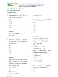 Tulis namamu di sudut kanan atas 2. Soal Matematika Wajib Kelas 10 Semester 2 Dan Jawabannya Doc Kunci Dunia