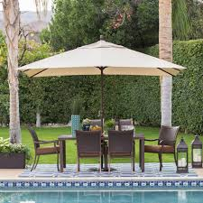c coast 8 x 11 ft aluminum rectangle patio umbrella