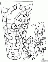 Rapunzel In Tower Coloring Pages