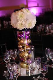 ... Stunning Image Of Wedding Table Decoration With White And Gold Table  Centerpiece : Beauteous Purple White ...