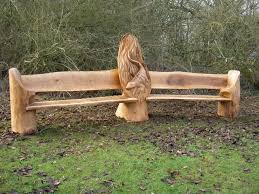 creative ideas stunning tree trunk garden furniture 3