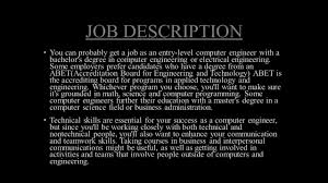 Computer Engineer Job Description COMPUTER ENGINEERING SAMUEL ROMERO ppt video online download 1