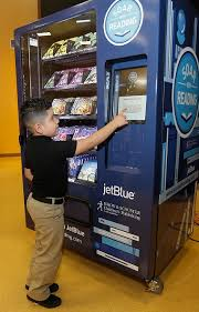 Vending Machine Books Mesmerizing JetBlue's Soar With Reading Initiative To Provide 4848 Free Books