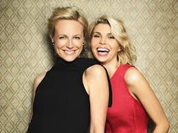 Laughing ... Marta Dusseldorp and Abby Earl pose on the set of A Place To  Call Home. Picture: Nick Wilson | Marta dusseldorp, Top ten tv shows,  Vintage tv