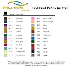 Pearl Color Chart Poli Flex Pearl Glitter Heat Transfer Vinyl Color Chart