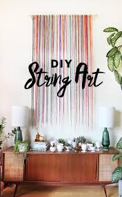 Wall Art For Living Room Diy Diy String Wall Art The Sweet Escape Creative Studio