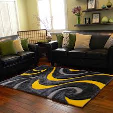 black and mustard colored rugs