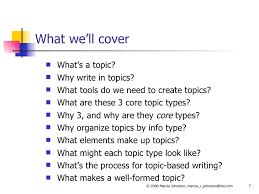 the three core topic types