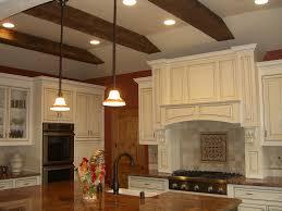 ... Wonderful Home Interior Decoration With Beam Ceiling Ideas : Fabulous  Kitchen Design Idea With White Kitchen ...