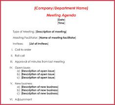 Business Agenda Formal Meeting Agenda Template 12 Best Samples For Word Pdf